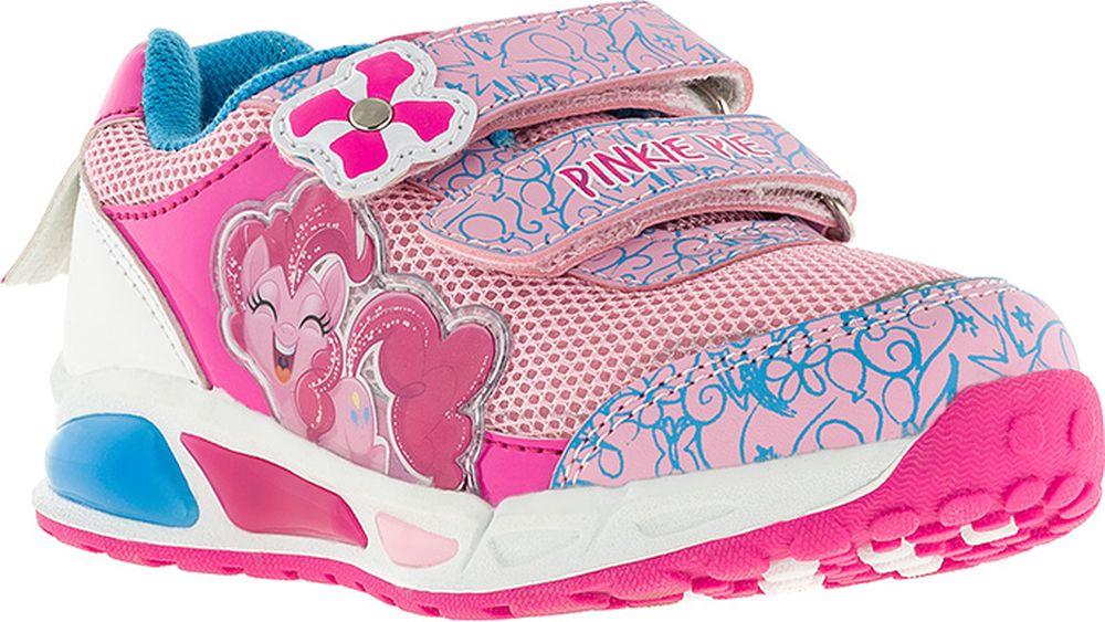 Кроссовки для девочки Kakadu My Little Pony, цвет: розовые. 7167A. Размер 277167AПодсводник, Съемная стелька, Светодиоды, Анатомическая стелька, Хлопковая подкладка