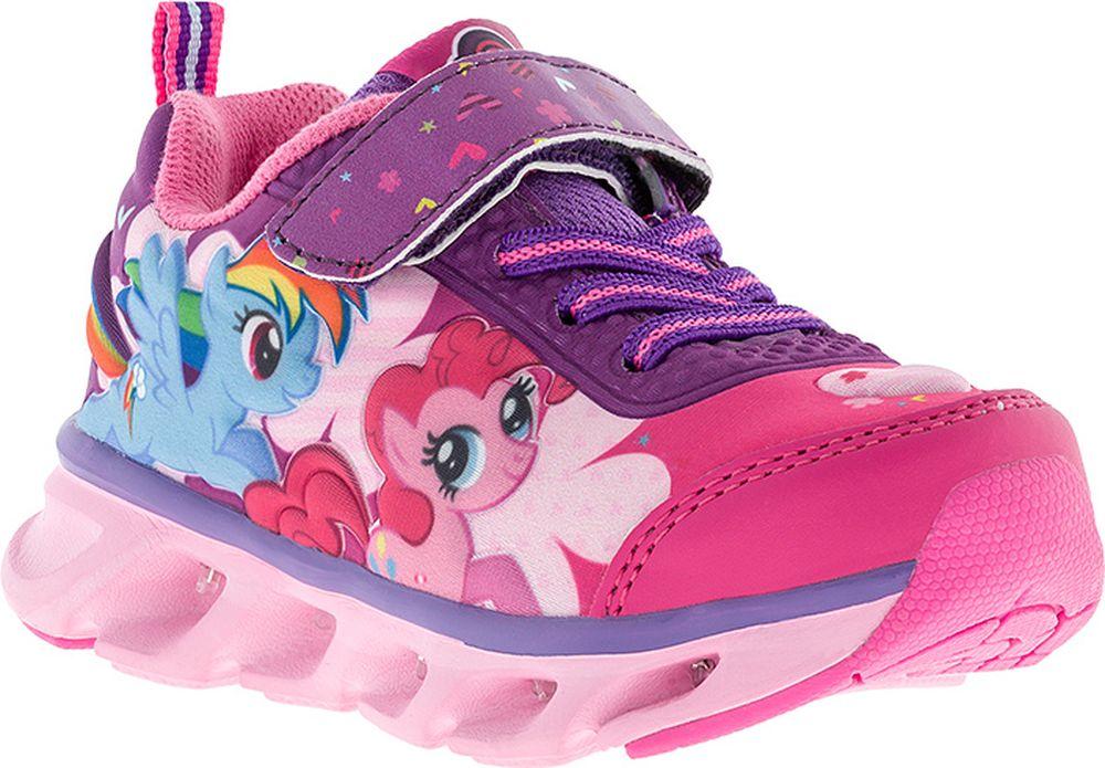 Кроссовки для девочки Kakadu My Little Pony, цвет: фуксия, сиреневые. 7177B. Размер 267177BПодсводник, Облегченная подошва, Съемная стелька, Светодиоды, Анатомическая стелька, Хлопковая подкладка