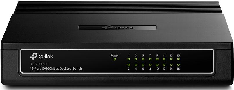 TP-LINK TL-SF1016D коммутатор (16 портов) принт сервер tp link tl ps110p tl ps110p