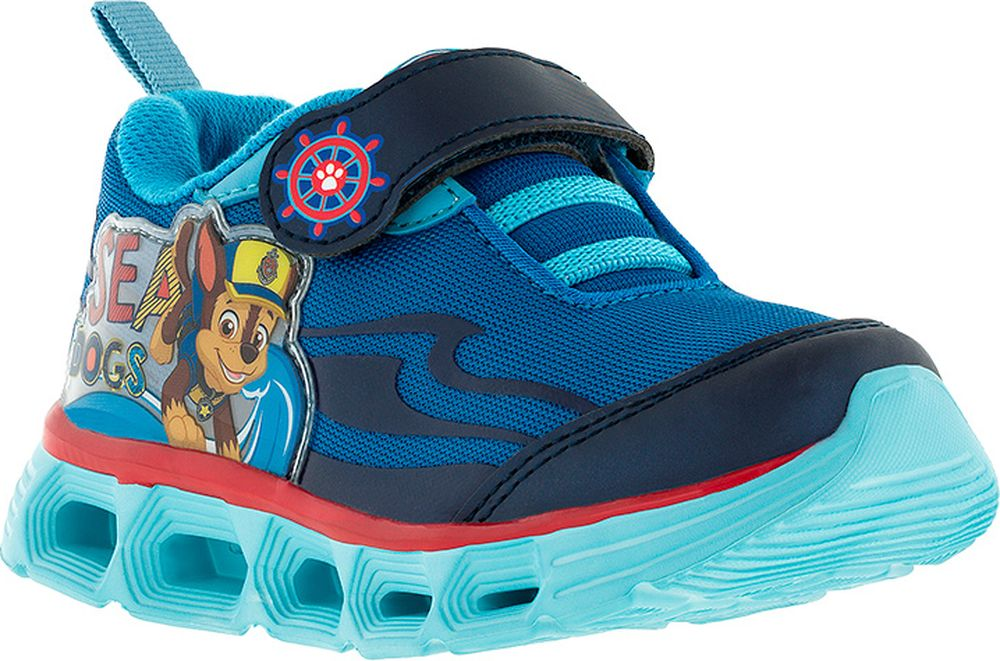 Кроссовки для мальчика Kakadu Paw Patrol, цвет: синие. 7195D. Размер 287195DПодсводник, Облегченная подошва, Съемная стелька, Светодиоды, Анатомическая стелька, Хлопковая подкладка