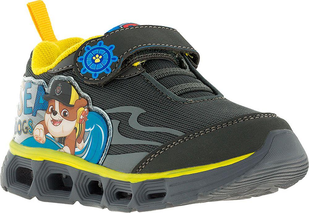 Кроссовки для мальчика Kakadu Paw Patrol, цвет: черный. 7195F. Размер 247195FОтличные детские кроссовки от Kakadu с изображением любимых героев вашего ребенка - симпатичных щенков из мультсериала Щенячий патруль. Что делает просто красивую и удобную обувь самой лучшей? Эмоции вашего ребенка, когда эта обувь на нем надета! Ваш ребенок придет в восторг от светящейся подошвы кроссовок, на которой при каждом его шаге будут светиться яркие лампочки-диоды. Используемая подсветка очень надежна, она не боится воды, а ее ресурса хватит на целых полмиллиона шагов!