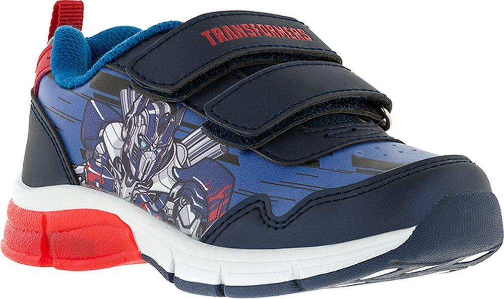 Кроссовки для мальчика Kakadu Transformers, цвет: синие. 7201C. Размер 287201CПодсводник, Съемная стелька, Светодиоды, Анатомическая стелька, Хлопковая подкладка