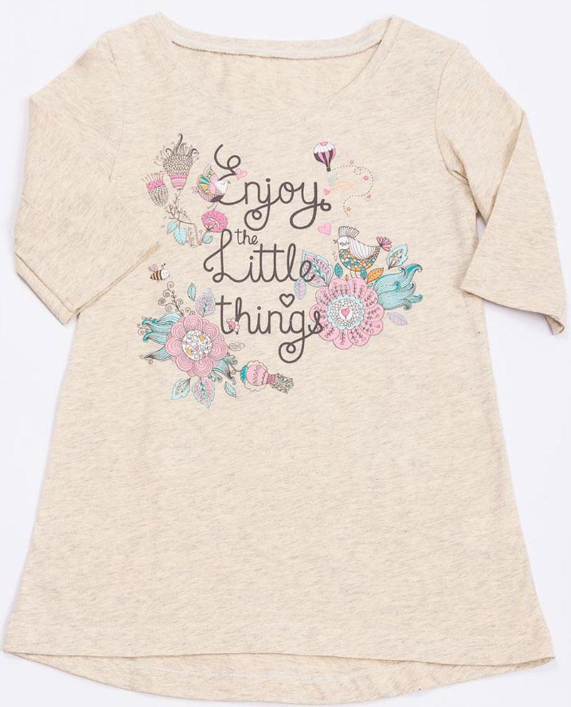цена на Ночная рубашка для девочки Mark Formelle, цвет: слоновая кость. 1201. Размер 116