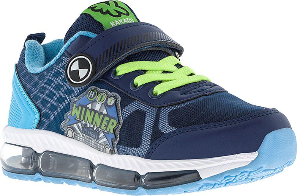 Кроссовки для мальчика Kakadu, цвет: темно-синий. 7212C. Размер 36