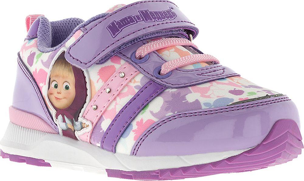 Кроссовки для девочки Kakadu Маша и Медведь, цвет: сиреневые. 7255B. Размер 247255BПодсводник, Облегченная подошва, Съемная стелька, Анатомическая стелька, Хлопковая подкладка