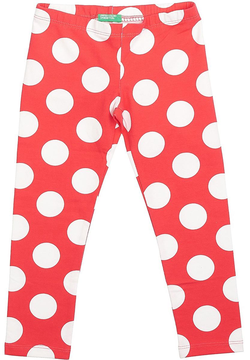 Леггинсы для девочки United Colors of Benetton, цвет: красный. 3XW9I0641_901. Размер 160