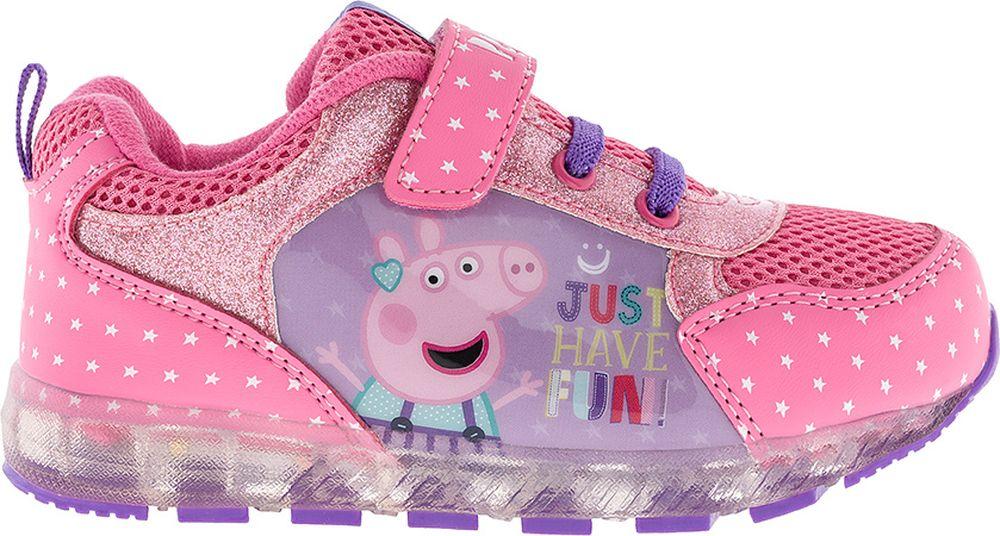 Кроссовки для девочки Kakadu Peppa Pig, цвет:  фуксия.  7269A.  Размер 27 Kakadu