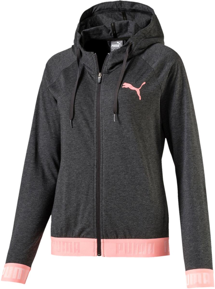Толстовка женская Puma Active Ess Banded Fz Hoody, цвет: темно-серый. 85085408. Размер XL (48/50) original new arrival 2018 puma pace primary fz hoody men s jacket sportswear