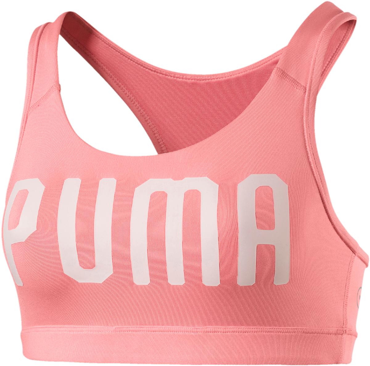 Топ-бра женский Puma Pwrshape Forever - Logo, цвет: коралловый. 51599121. Размер XL (48/50) топ puma топ essential layer tank graphic