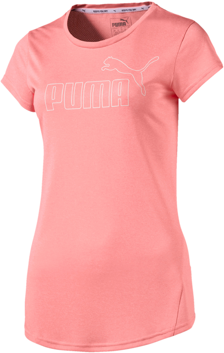 Футболка женская Puma Active Ess No.1 Tee, цвет: коралловый. 83843843. Размер L (46/48)