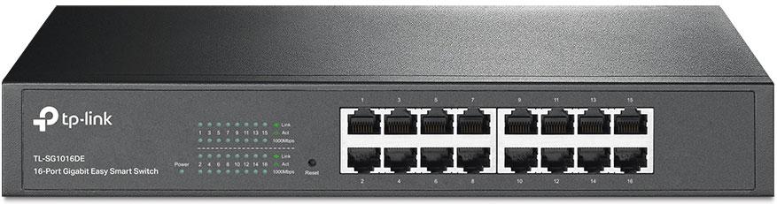 TP-LINK TL-SG1016D коммутатор (16 портов)TL-SG1016D16-портовый гигабитный коммутатор TL-SG1016D представляет собой доступное и высокопроизводительноеустройство, предназначенное для усовершенствования вашей сети до гигабитных скоростей. Все 16 портовподдерживают функцию авто-MDI/MDIX - больше не нужно думать о типе кабеля, просто подключите кабель кустройству, и оно будет работать. Более того, применение инновационной энергосберегающей технологиипозволит сберегать до 25% потребляемой электроэнергии, а 80% упаковочного материала может бытьповторно переработано, благодаря чему устройство представляет собой экологичное решение для вашей сети.TL-SG1016D поддерживает новейшие энергосберегающие технологии, с помощью которых можно увеличитьпропускную способность сети со значительно меньшими энергозатратами. Устройство автоматическирегулирует потребление электроэнергии в зависимости от статуса соединения, чтобы сберечьэлектроэнергию и тем самым ограничить количество выбросов углерода. Устройство поддерживает принятуюЕвропейским союзом директиву, ограничивающую содержание вредных веществ в электротехническом иэлектронном оборудовании (RoHS), кроме того, 80% материала, из которого сделана упаковка, может бытьповторно переработано.Все 16 портов коммутатора являются гигабитными портами RJ-45, обеспечивают передачу файлов большогоразмера, а также совместимы с устройствами, работающими на скоростях 10 Мбит/с и 100 Мбит/с. TL-SG1016Dявляется неблокируемым коммутатором, что позволяет ему перенаправлять и фильтровать пакеты намаксимальной скорости проводного соединения и обеспечивать максимально возможную пропускнуюспособность. Значительным образом улучшена передача файлов большого размера за счет использованияJumbo-кадров размером в 10 Кбайт. Функция контроля потока IEEE 802.3x для полнодуплескного режима и BackPressure (функция приостановки/задержки передачи при переполнении буфера) предотвращают перегрузкусетевого трафика и повышают надёжность работы коммутатора TL-SG1016D. Устрой