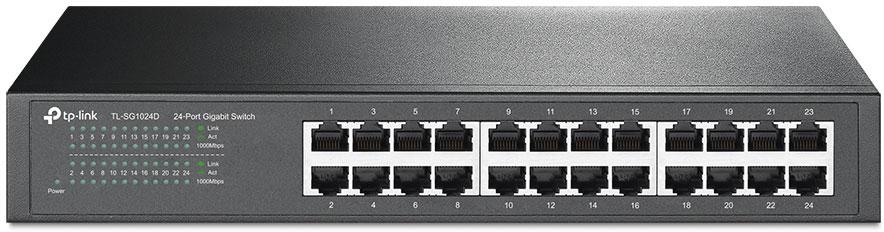 TP-LINK TL-SG1024D коммутатор (24 порта) принт сервер tp link tl ps110p tl ps110p