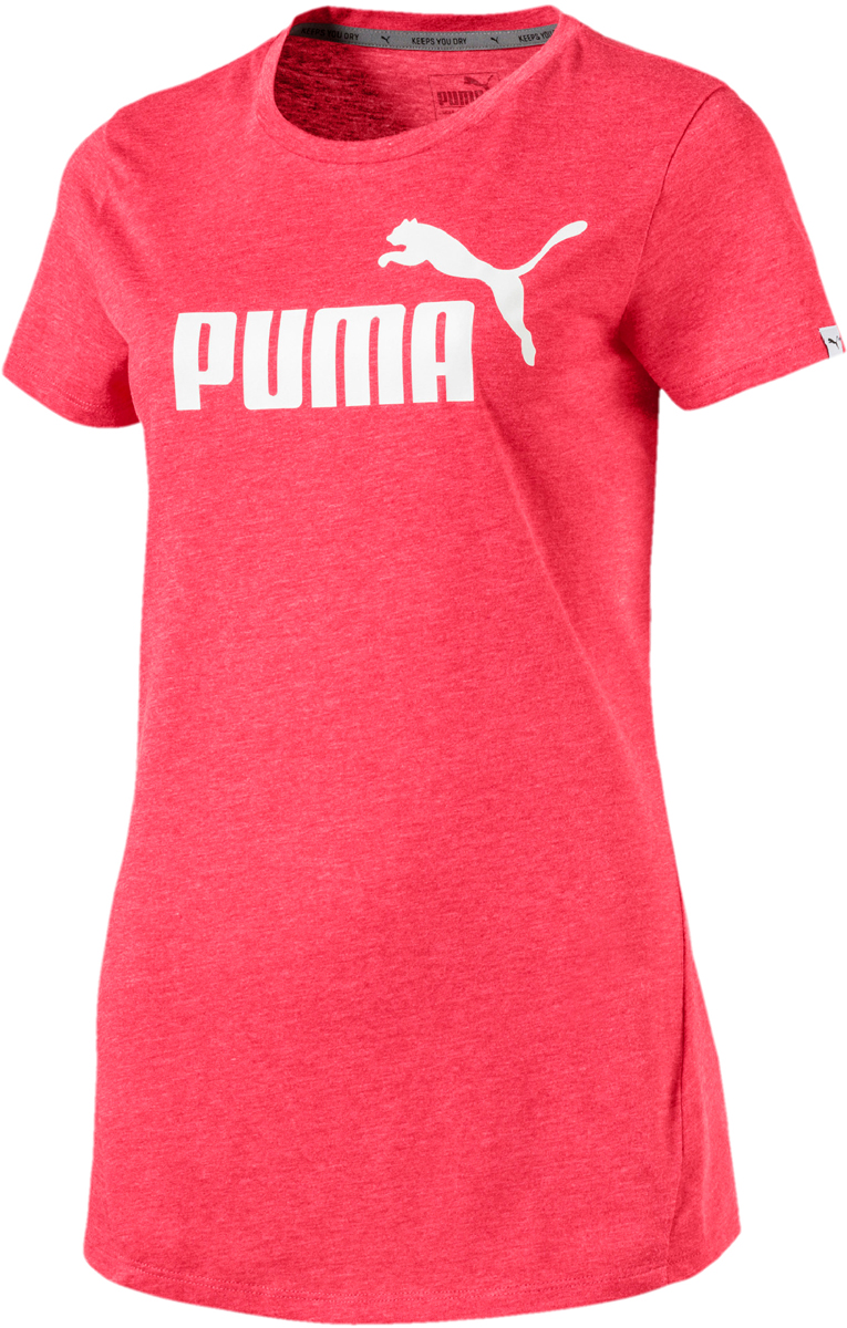Футболка женская Puma ESS No.1 Tee Heather W, цвет: розовый. 83839918. Размер XL (48/50) new women s fashion bag in bags cosmetic storage organizer makeup casual travel handbag lxx9