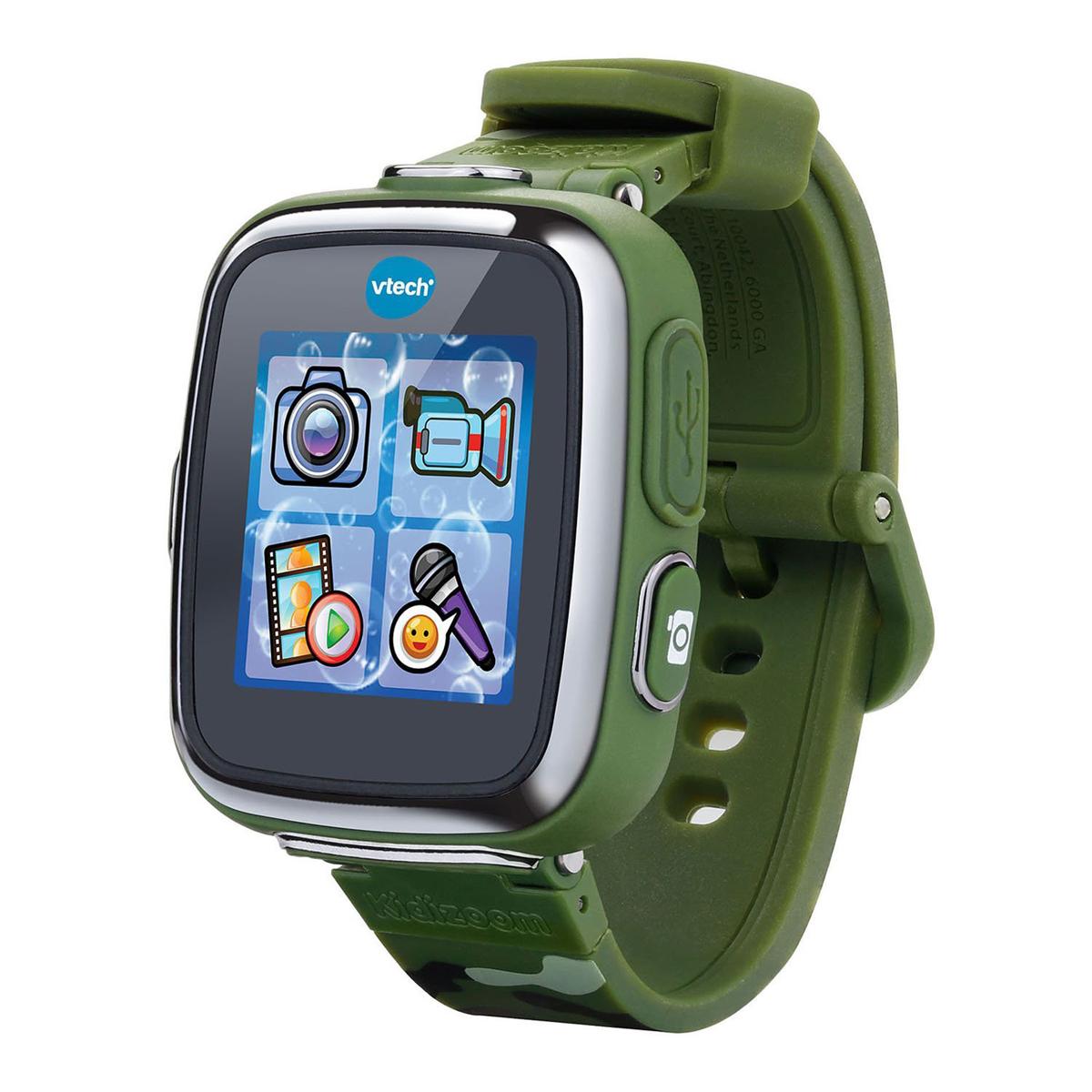 Vtech Детские наручные часы Kidizoom SmartWatch DX цвет камуфляж - Интерактивные игрушки