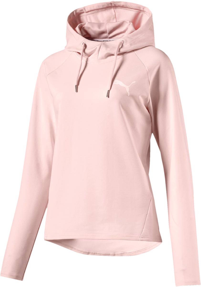 Худи женское Puma Active Ess Hooded Cover Up, цвет: светло-розовый. 83844336. Размер L (46/48)83844336Женское худи с капюшоном от Puma изготовлено из высоко функционального материала DryCELL, впитывающего влагу, и декорировано прорезиненным логотипом бренда. Фирменная символика также присутствует на тесьме, которой отделан ворот. Среди других отличительных особенностей изделия – сетчатая подкладка капюшона и швы с нахлестом вперед. Модель имеет удобную стандартную посадку.