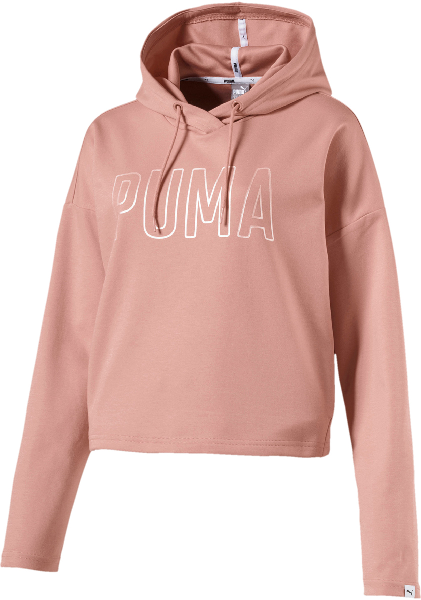 Худи женское Puma Fusion Hoody, цвет: персиковый. 85011231. Размер L (46/48) толстовки puma худи figc azzurri zip hoody