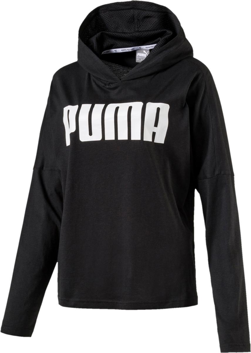 Худи женское Puma Urban Sports Light Cover Up, цвет: черный. 85001501. Размер XL (48/50) топ женский puma slogan tank w цвет коралловый 51646405 размер xl 48 50