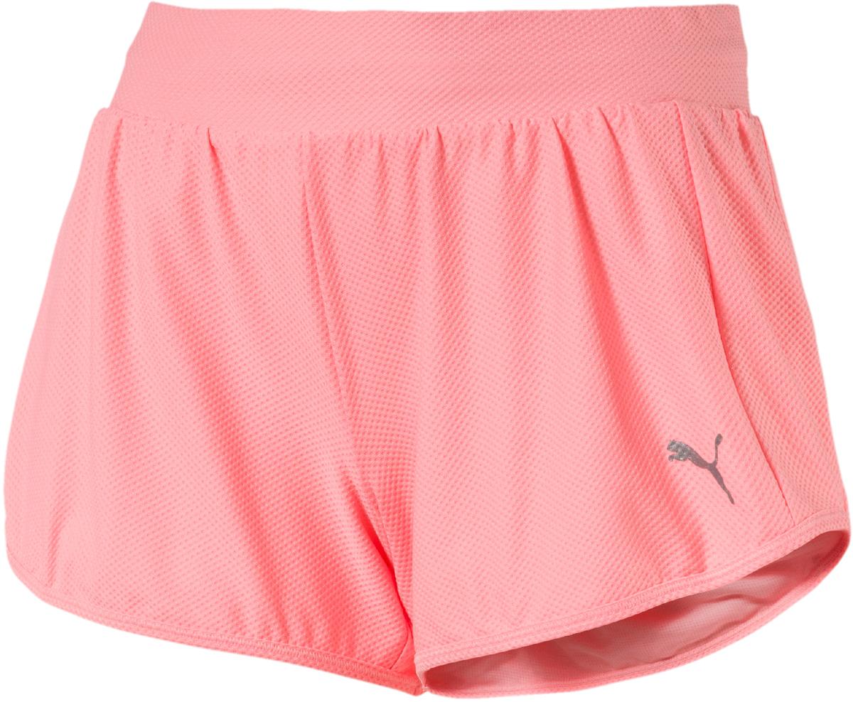 Шорты женские Puma Mesh Short, цвет: коралловый. 51572305. Размер S (42/44) шорты пляжные женские roxy love цвет синий белый коралловый erjbs03065 pqf6 размер 42 s