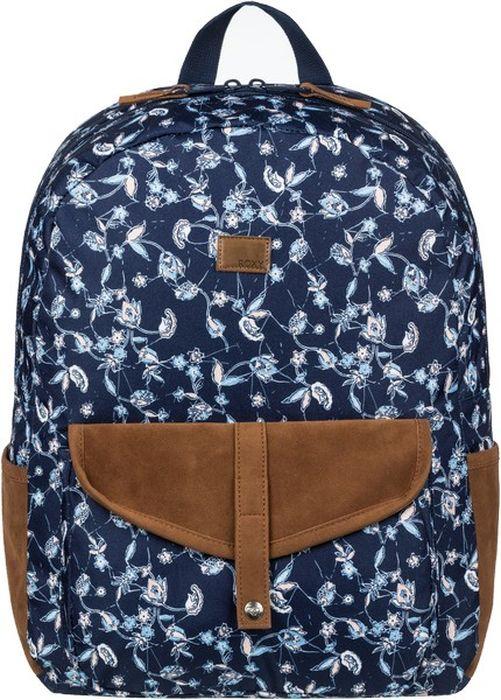 Рюкзак женский Roxy Roxy Carribean J, цвет: синий, 18 л. ERJBP03642-BTK9ERJBP03642-BTK9Женский рюкзак Roxy выполнен из полиэстера.Модель закрывается на молнию. Снаружи,спереди и по бокам располагаются накладные карманы. Внутри рюкзака вы с легкостью сможетерасположить свой сотовый телефон и другие женские мелочи с помощью удобных карманов. Рюкзак оснащен регулируемыми плечевыми лямками и короткой ручкой.Стильный рюкзакRoxy прекрасно дополнит ваш образ.