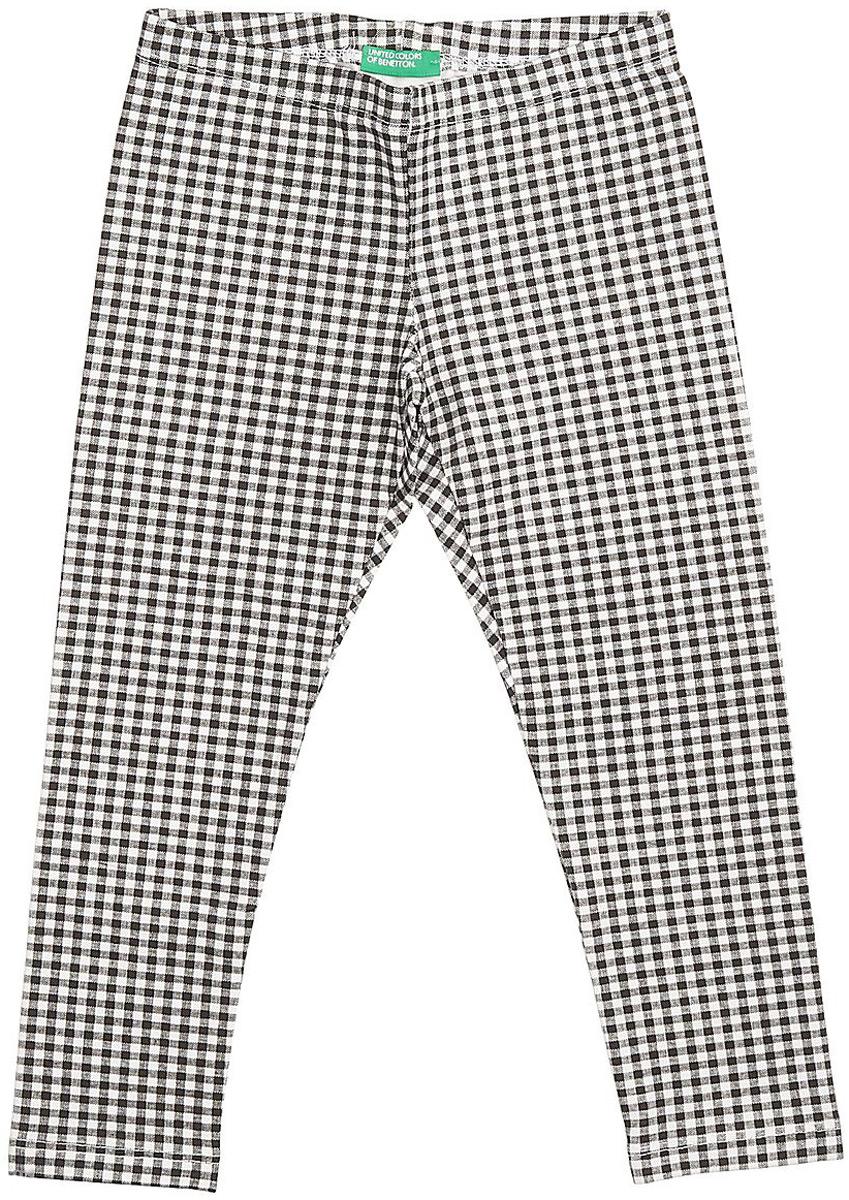 Леггинсы для девочки United Colors of Benetton, цвет: черный, белый, клетка. 3XW9I0641_911. Размер 160
