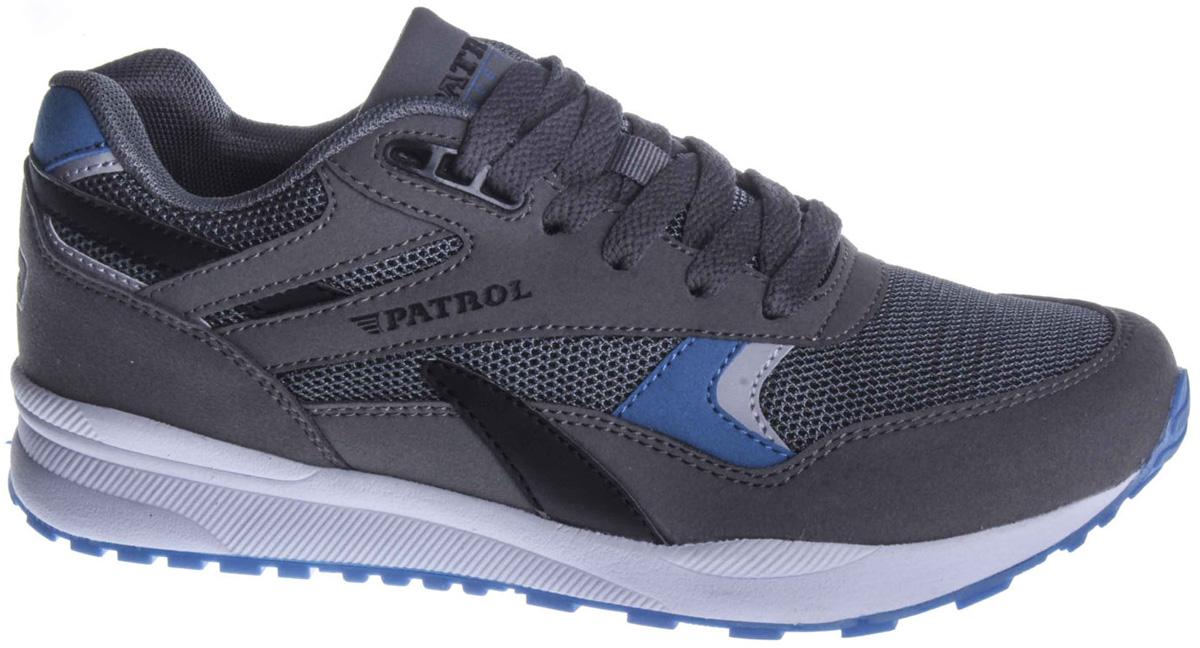 Кроссовки для мальчика Patrol, цвет: серый. 732-243T-18s-02/8-5. Размер 38 ботинки из спилка
