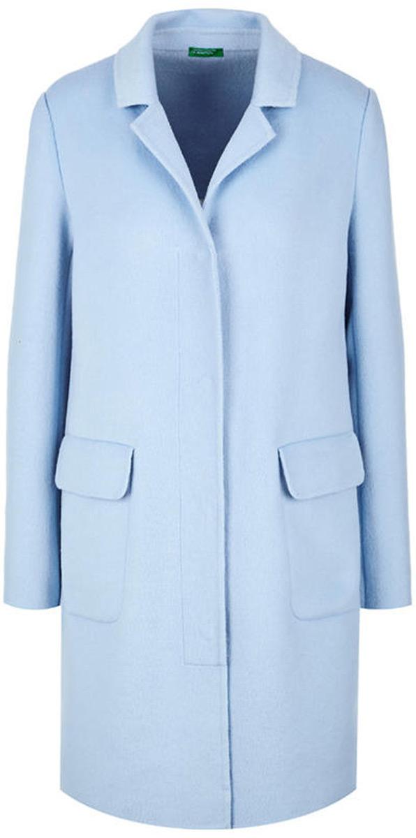 Пальто женское United Colors of Benetton, цвет: голубой. 2BF853405_20B. Размер 38 (40)2BF853405_20B