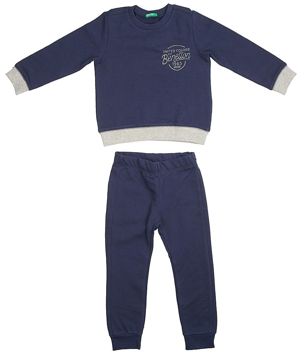 Пижама для мальчика United Colors of Benetton, цвет: синий. 3J68Z11LS_13C. Размер 100 пижама для мальчика united colors of benetton цвет серый 3j68z11ls 501 размер 100