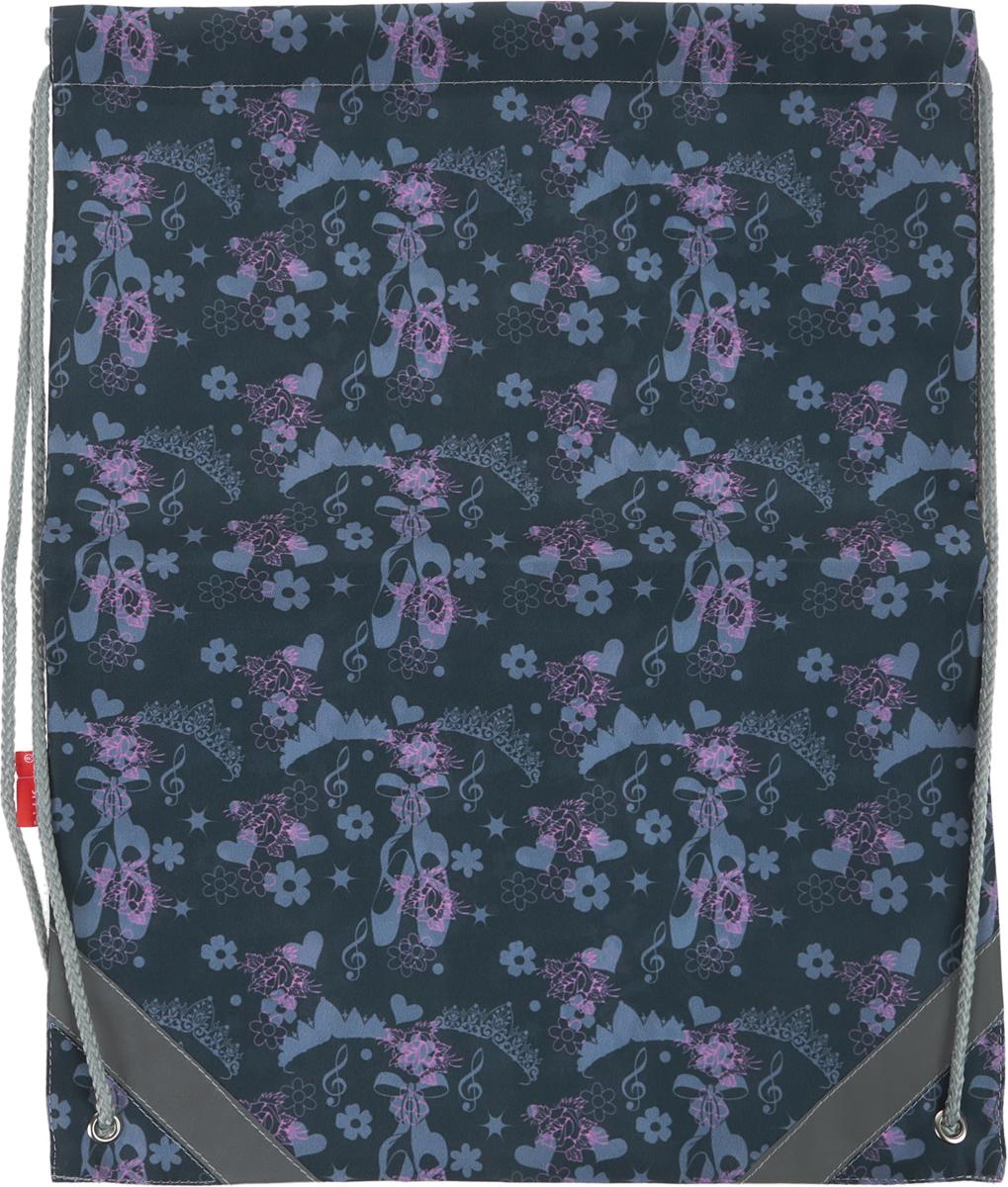 Erich Krause Сумка для сменной обуви Балет цвет шнурка серый41137Сумку Erich Krause Балет удобно использовать как для хранения, так и для переноски сменной обуви. Сумка выполнена из прочного полиэстера и оформлена ярким принтом с изображением цветов и пуант.Сумка затягивается сверху при помощи текстильных шнурков. Шнурки фиксируются в нижней части сумки, благодаря чему ее можно носить за спиной как рюкзак. Светоотражающие вставки на сумке не оставят вашего ребенка незамеченным в темное время суток.