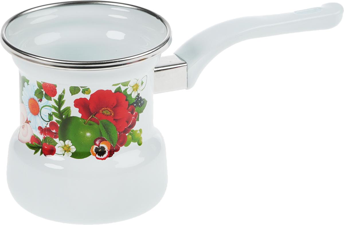 Кофеварка Лысьвенские эмали Ягоды, цветок, 400 мл. С-4103АП/4С-4103АП/4Кофеварка Лысьвенские эмали прекрасно подходит для приготовлениянастоящего кофе. Изготовлена из эмалированной стали. Изделие оснащеноудобной пластиковой ручкой с крючком для подвеса. Такая кофеварка органичновпишется в интерьер вашей кухни. Диаметр (по верхнему краю): 9 см.Высотастенки: 10 см. Длинаручки: 12,5 см.