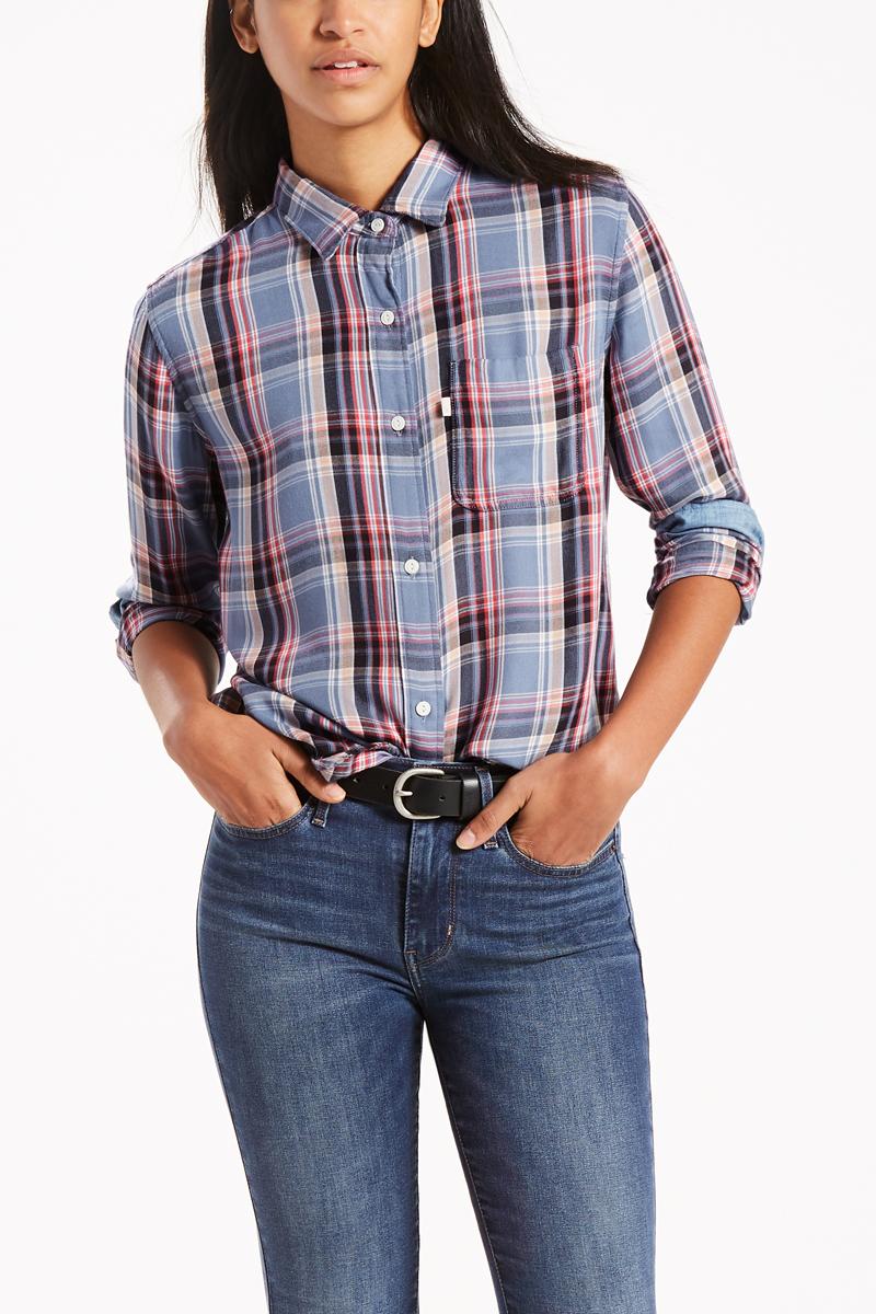 Рубашка женская Levi's®, цвет: синий. 4779400090. Размер XS (42)