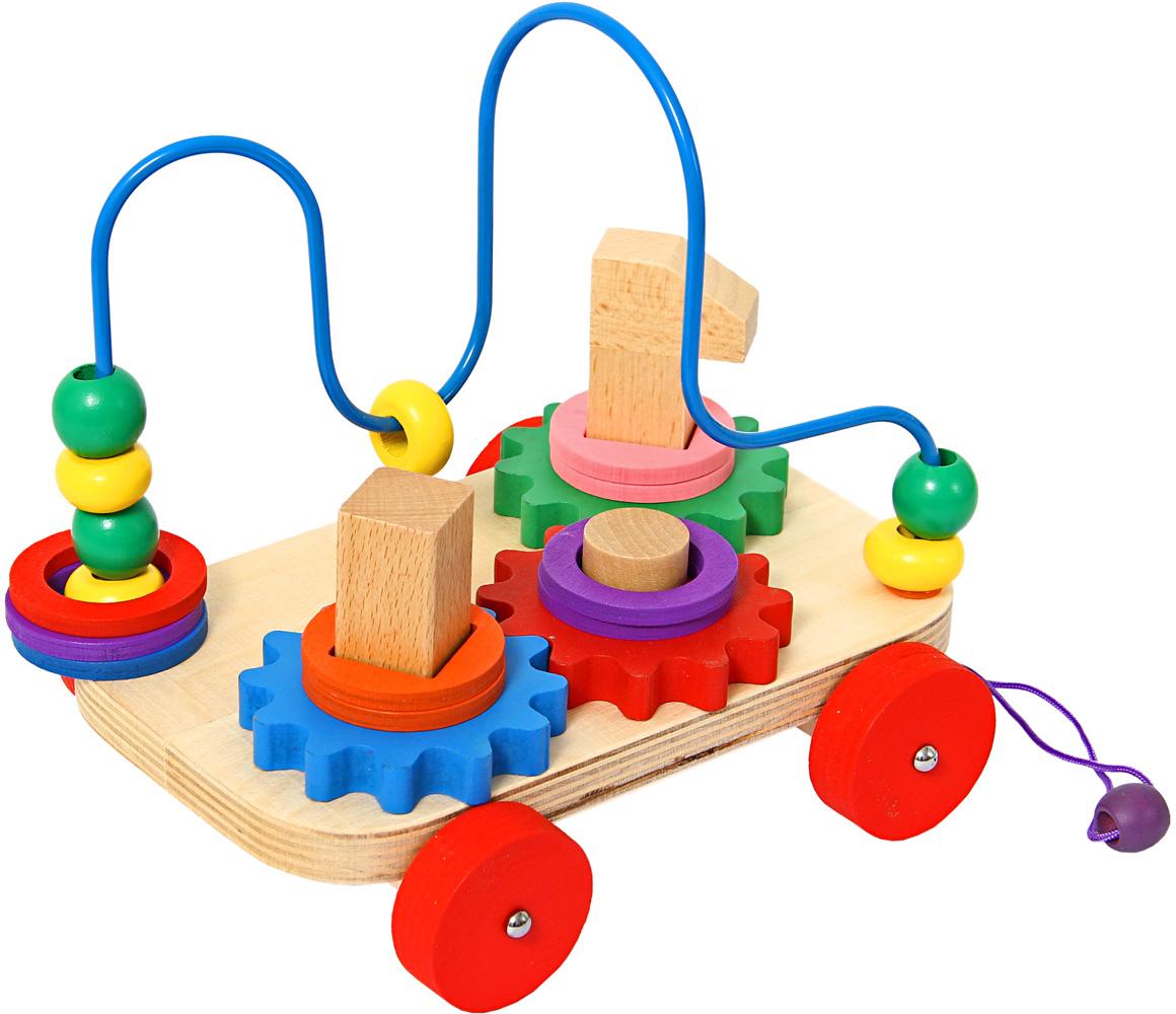 Фабрика Фантазий Лабиринт-Каталка Яркие цвета 52861 деревянные игрушки фабрика фантазий сортер бабочка