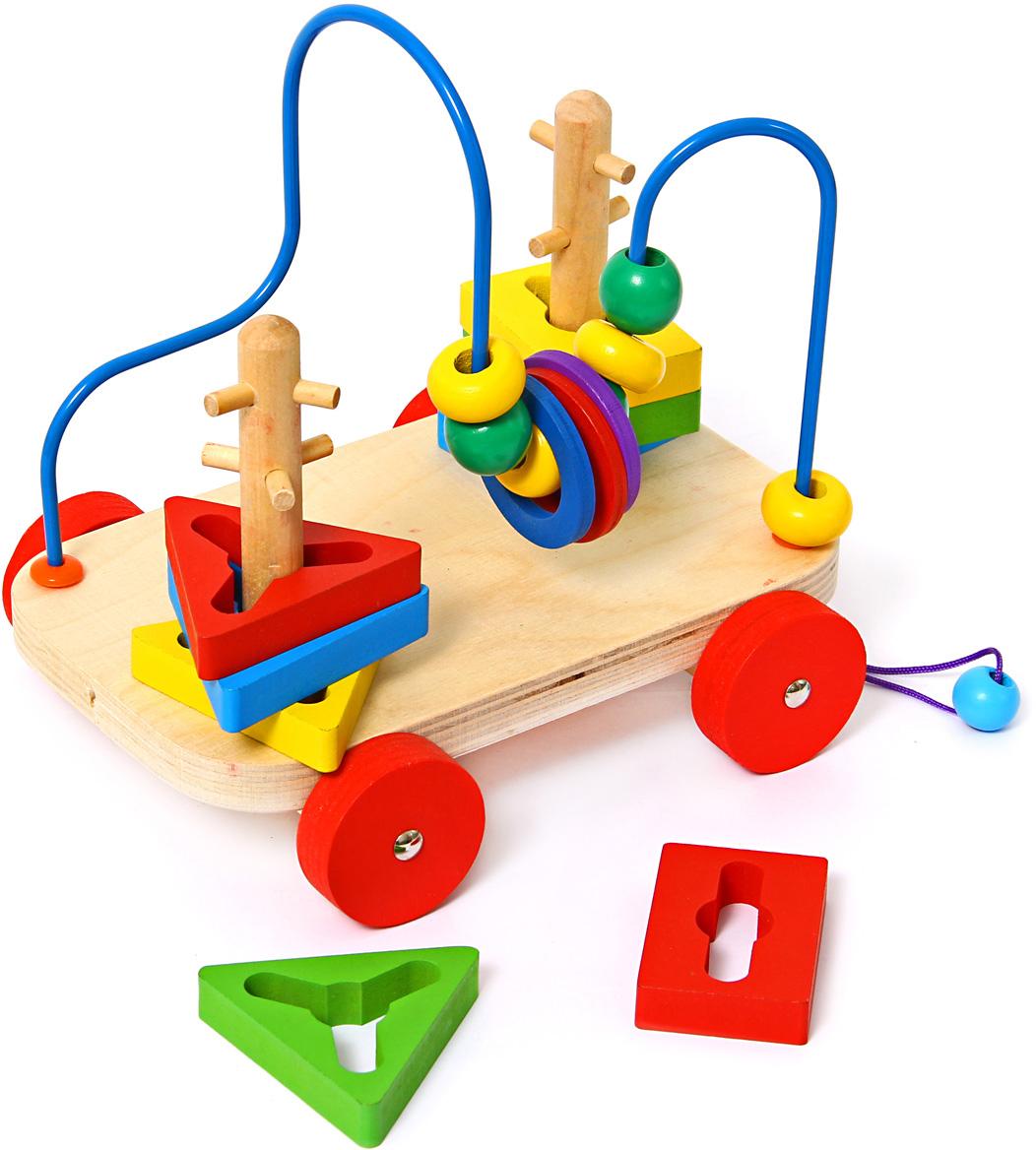 Фабрика Фантазий Лабиринт-Каталка Яркие цвета 52862 деревянные игрушки фабрика фантазий сортер бабочка