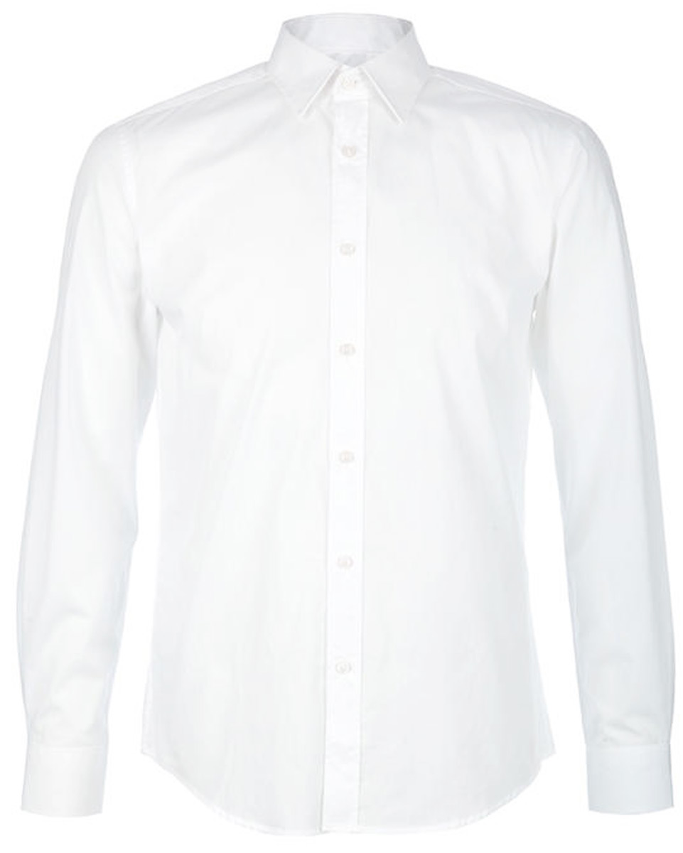 Рубашка мужская United Colors of Benetton, цвет: белый. 5APT5QE08_907. Размер XXL (54/56)5APT5QE08_907