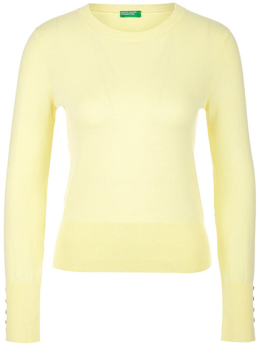Фото - Джемпер женский United Colors of Benetton, цвет: желтый. 10D3E1F22_0H3. Размер L (46/48) плавки united colors of benetton united colors of benetton un012ewacdk6