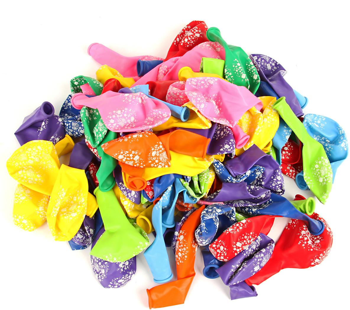 Веселый хоровод Набор шаров 30 см 100 шт цвет в ассортименте KL40925