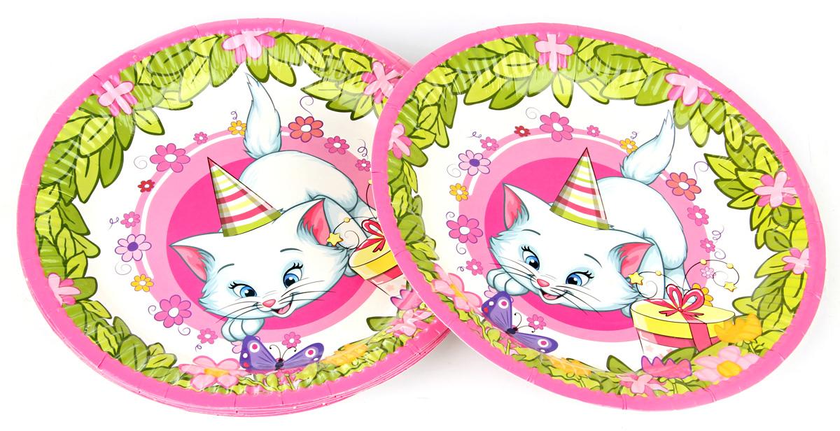 Веселый хоровод Набор тарелок Розовая фантазия 18 см 6 шт KL40944 веселый хоровод набор трубочек для коктейля фрукты 12 шт kl63401