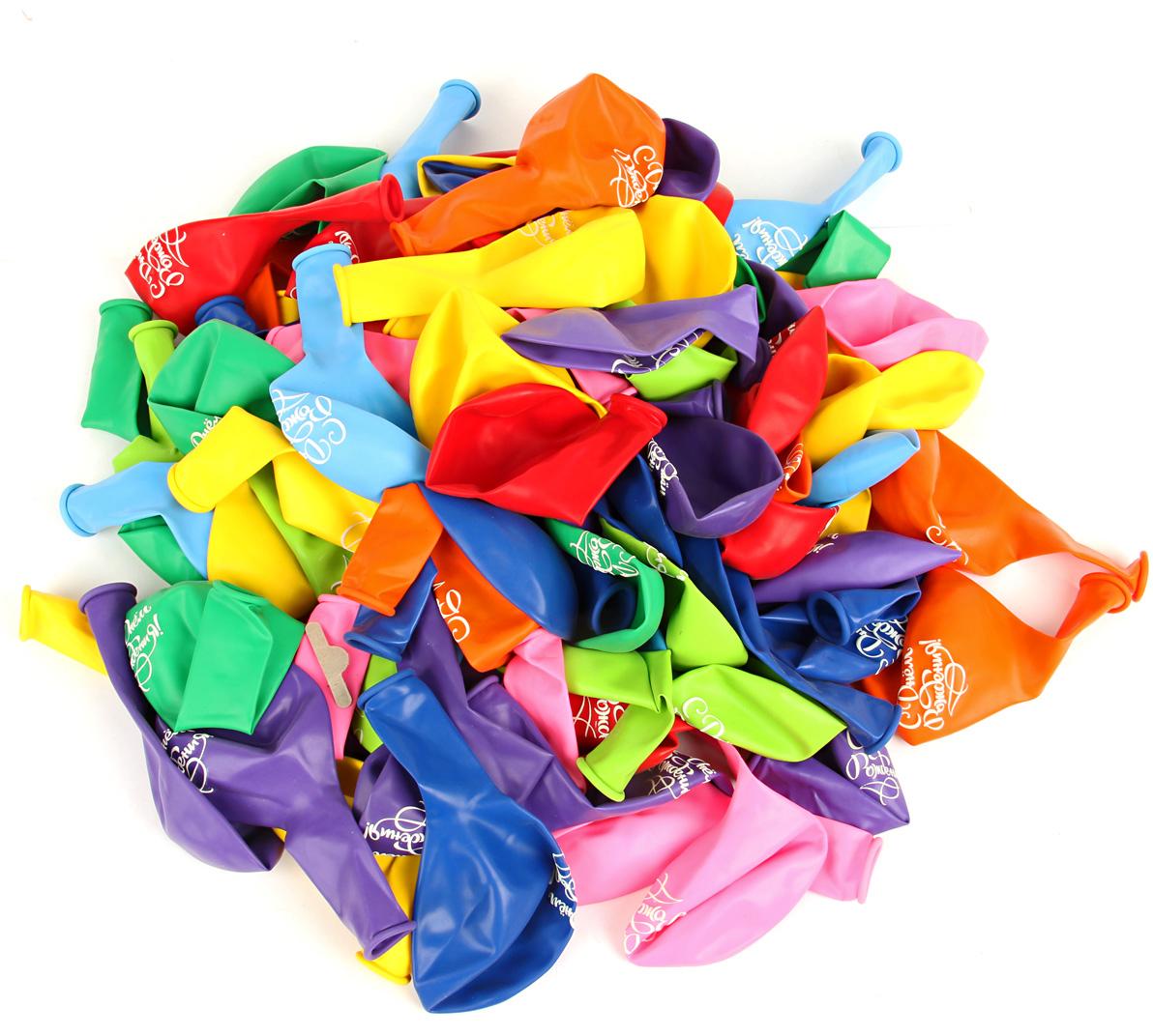 Веселый хоровод Набор шаров С Днем Рождения 30 см 100 шт цвет в ассортименте веселый хоровод набор шаров 30 см 100 шт цвет в ассортименте kl40897