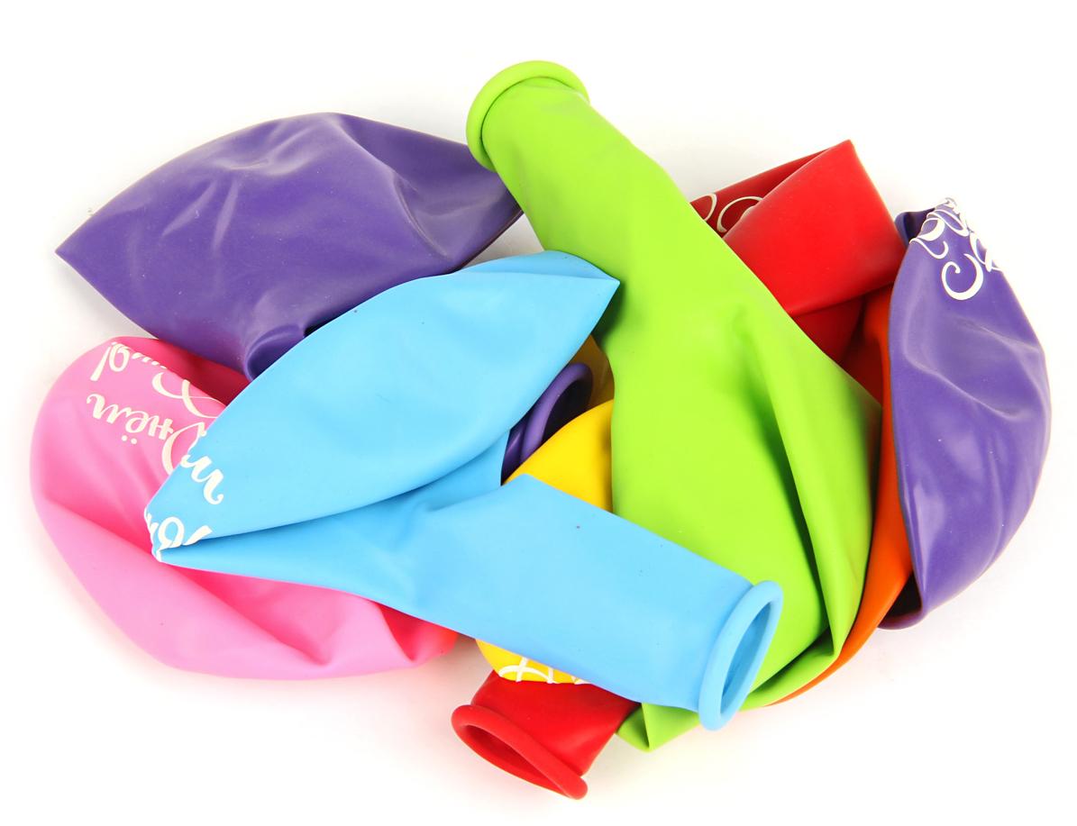 Веселый хоровод Набор воздушных шаров С Днем Рождения 30 см 8 шт набор для проведения детского праздника веселый день рождения