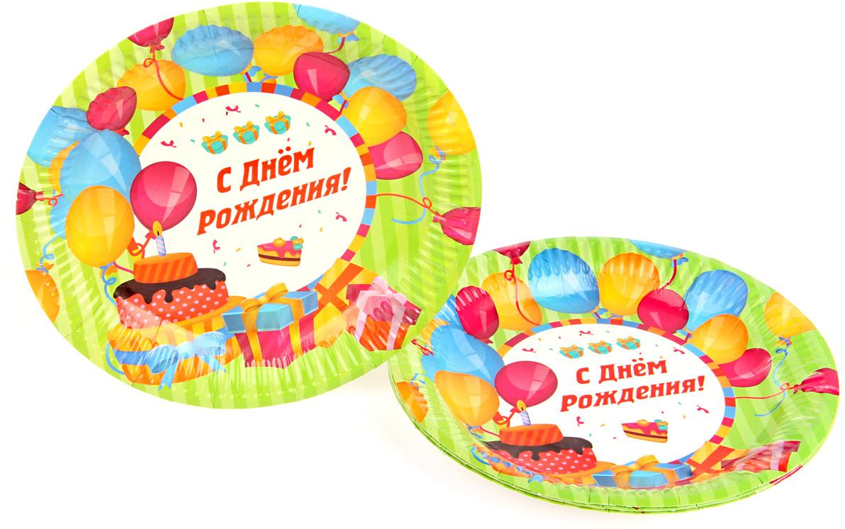 Набор ярких праздничных тарелок поможет украсить праздники и пикники, станет незаменимым помощником для организаторов праздников.  Сделаны из прочного гипоаллергенного материала. Диаметр тарелки - 18 см.