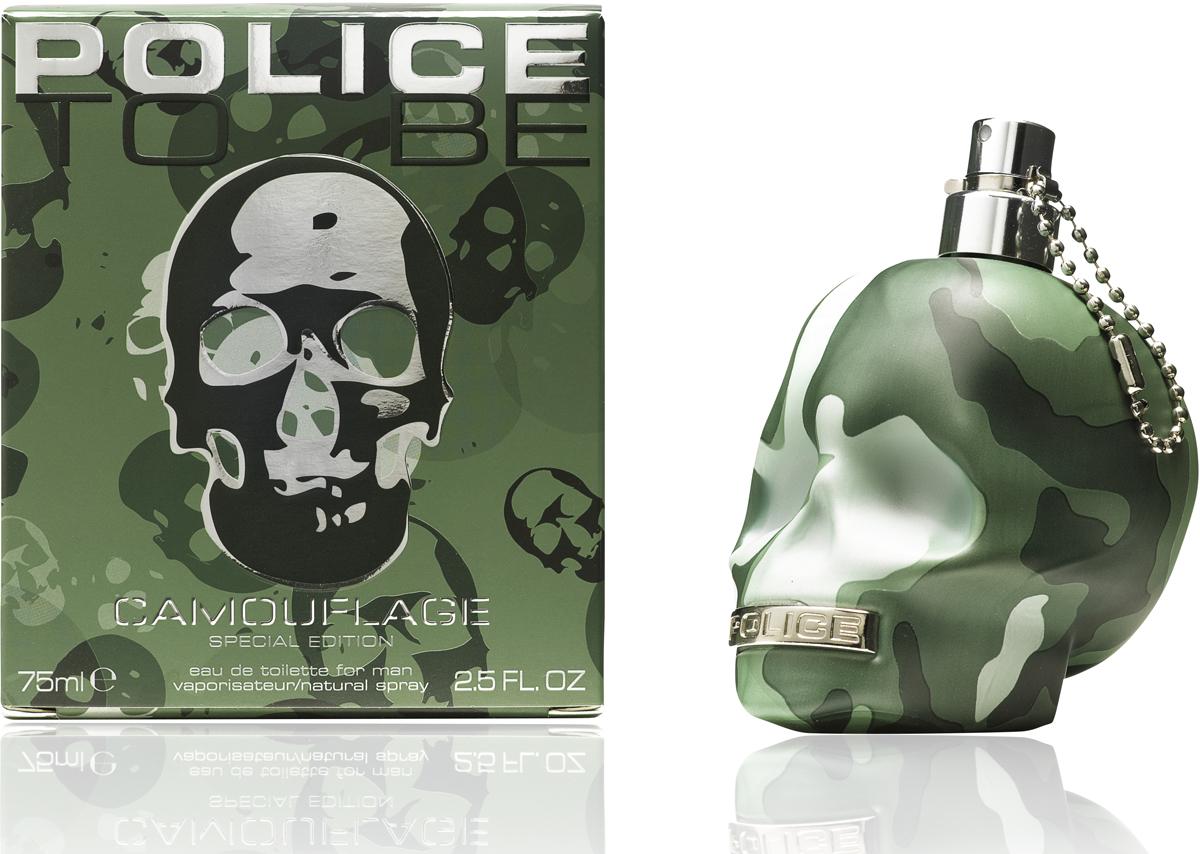 Police Туалетная вода To be Camouflage, 75 мл771081To Be Camouflage - насыщенный и энергичный мужской восточно-фужерный парфюм, выпущенный в 2015 году. Аромат пополнил коллекцию парфюмов «To Be», отсылающую к шекспировской философской фразе «To be, or not to be». К знаменитому «Гамлету» отсылает и дизайн флакона, выполненный в виде черепа. В подобные черепа заключены все парфюмы коллекции, но на этот раз флакон окрашен в цвет военного камуфляжа и украшен серебристыми деталями. Подобное оформление флакона обусловлено тем, что аромат адресован в первую очередь молодым и энергичным мужчинам, которые следуют веяниям моды и предпочитают стиль «милитари». Заключенная в столь оригинальном флаконе композиция поражает таящейся в ней энергией.