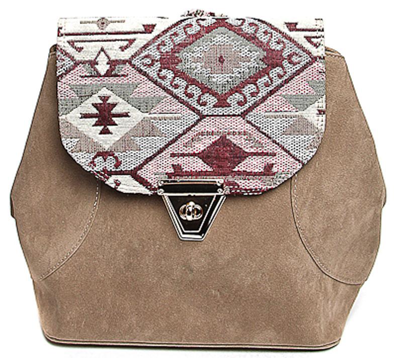 Сумка-рюкзак женская Milana, цвет: коричневый. 172681-1-224