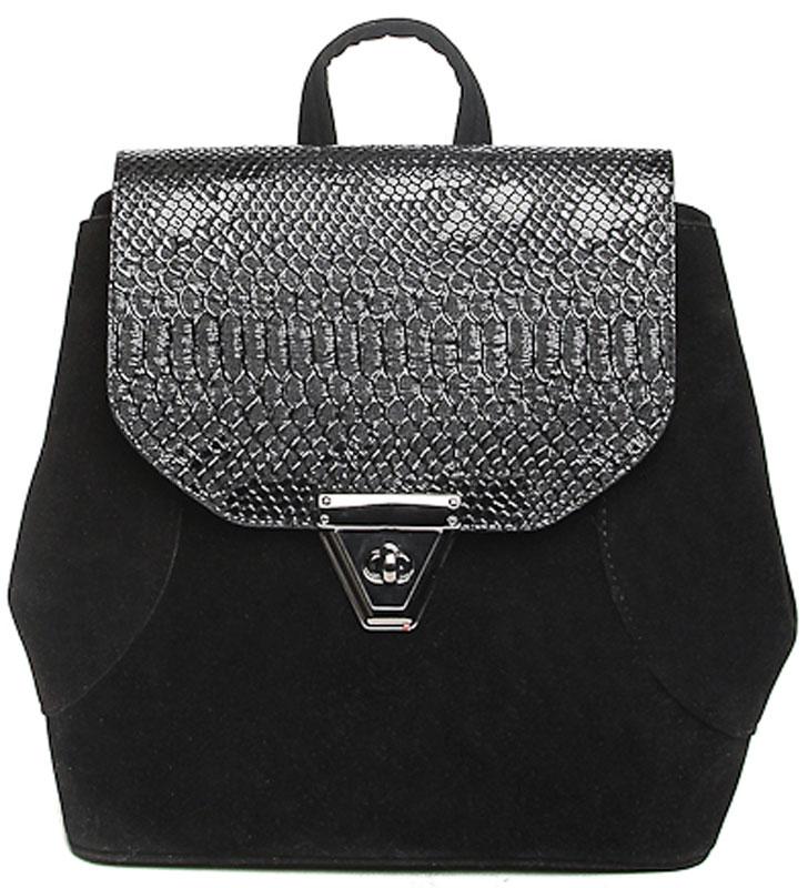 Сумка-рюкзак женская Milana, цвет: черный. 172681-1-210