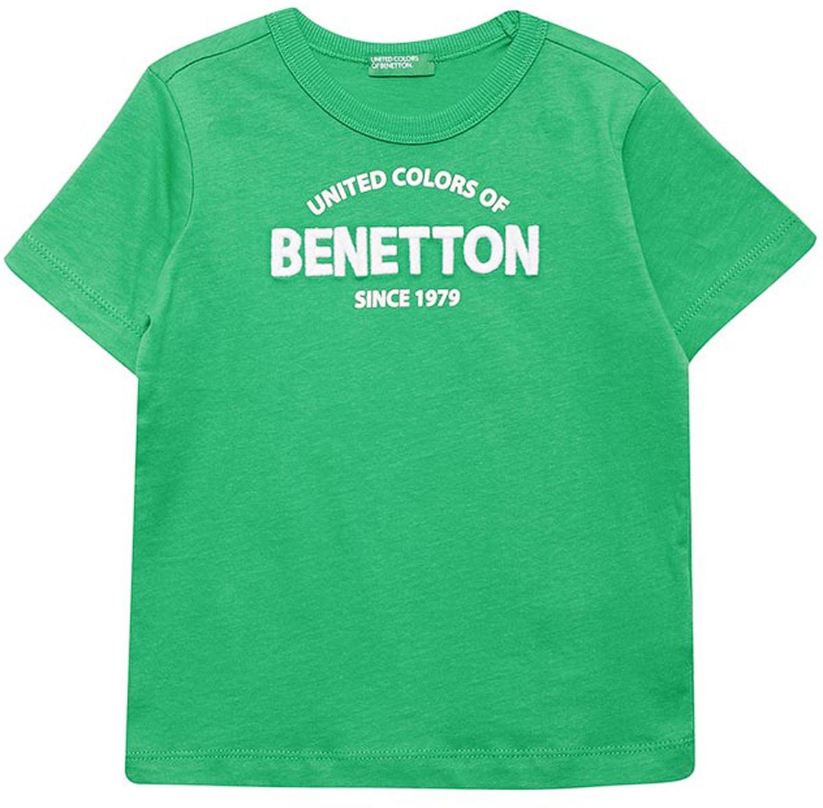 Футболка для мальчиков United Colors of Benetton, цвет: зеленый. 3096C11XR_108. Размер 1103096C11XR_108