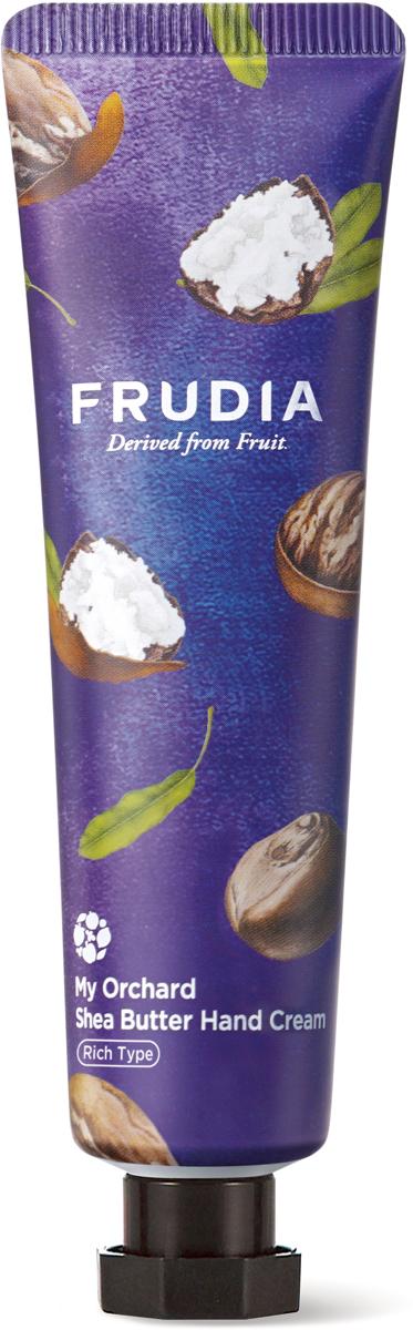 Frudia Крем для рук с маслом ши, 30 г03629Питательный крем с высоким содержанием экстрактов фруктов интенсивно увлажняет и восстанавливает сухую и поврежденную кожу рук. Аденозин в составе оказывает омолаживающий эффект, а масло ши обеспечивает максимальное питание и обладает изысканным ароматом.