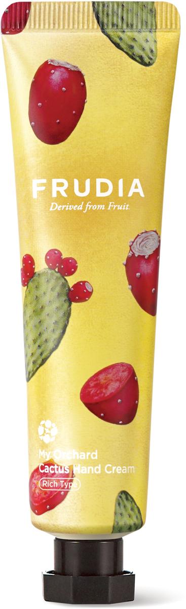 Frudia Крем для рук c кактусом, 30 г03634Питательный крем с высоким содержанием экстрактов фруктов интенсивно увлажняет и восстанавливает сухую и поврежденную кожу рук. Аденозин в составе оказывает омолаживающий эффект, а комплекс масел заметно смягчает. Крем обладает восхитительным ароматом мексиканского кактуса.