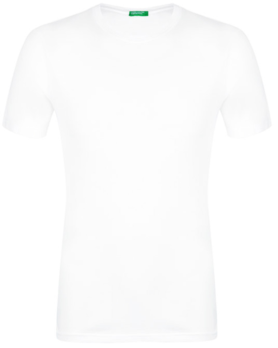 Футболка мужская United Colors of Benetton, цвет: белый. 3U53J1F15_101. Размер L (50/52)3U53J1F15_101Футболка от United Colors of Benetton выполнена из натурального хлопкового трикотажа. Модель с короткими рукавами и круглым вырезом горловины.