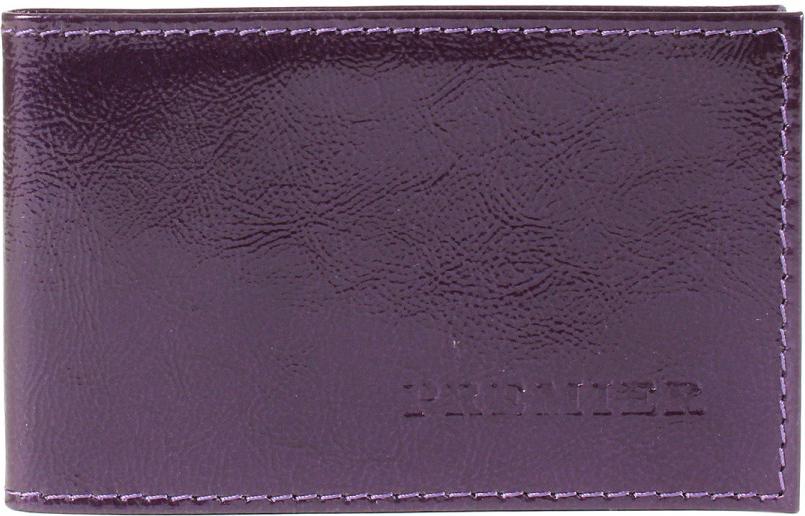 Визитница женская Premier, цвет: фиолетовый. 112128
