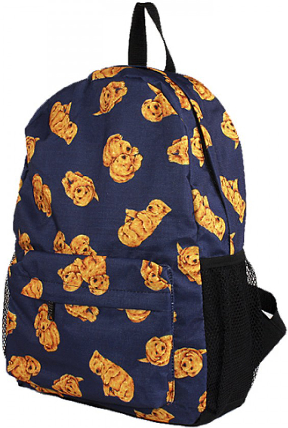 Рюкзак женский Юпитер, цвет: синий. 177078177078Повседневный рюкзак с яркими принтами торговой марки Юпитер с одним отделением и внутренним карманом имеет 2 внешних боковых сетчатых кармана и станет отличным проявлением твоей индивидуальности.