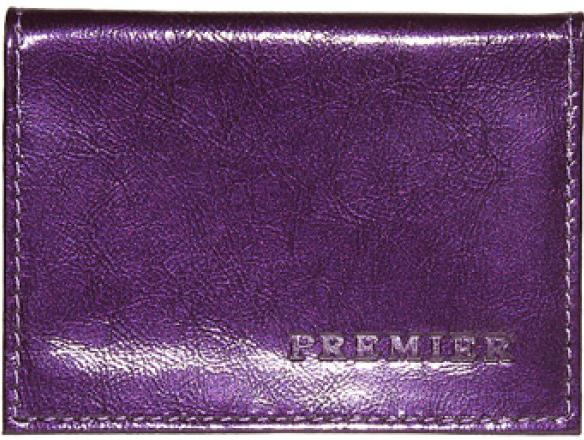 Визитница женская Premier, цвет: фиолетовый. 178227