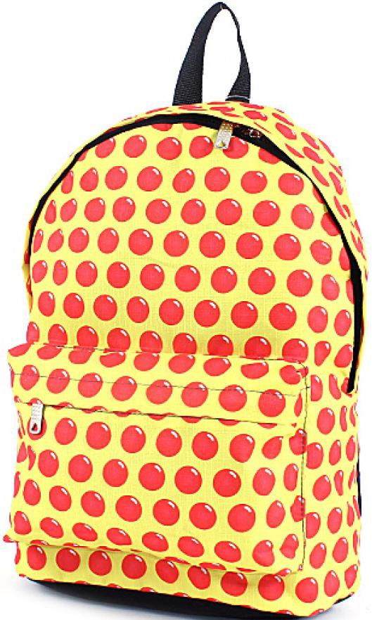 Рюкзак женский Юпитер, цвет: желтый. 196383196383Повседневный рюкзак с яркими принтами торговой марки Юпитер с одним отделением и внутренним карманом имеет внешний карман, закрывающийся на молнию, станет отличным проявлением твоей индивидуальности.